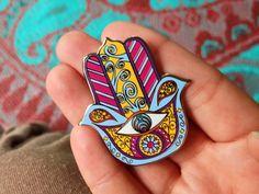 Bass Hamsa Hat Pin - Bassnectar Pin
