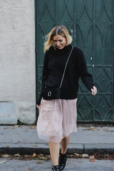 tifmys – H&M Mohair knit, Gucci Dionysus bag, Zara tulle skirt & Asos studded boots.