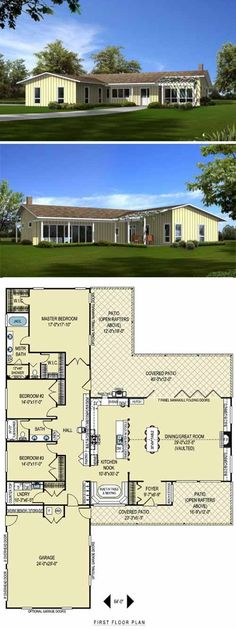 1000 images about cliff may on pinterest cliff may for Long ranch house plans
