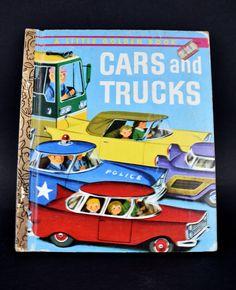 Little Golden Book Cars & Trucks - Vintage 1974 Edition Children's Books Richard Scarry Old Children's Books, Vintage Children's Books, Vintage Cars, Big Books, Best Suv Cars, Disney Crafts For Kids, Richard Scarry, Best Cars For Teens, Preppy Car Accessories