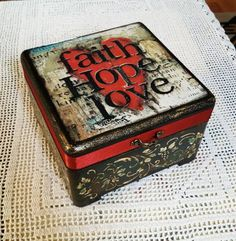 Decoupage faith box