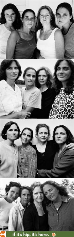 The four Brown Sister have been photographed every year for 37 years by photographer Nicholas Nixon. See all 37 photos at the link.