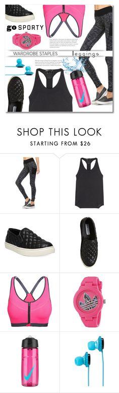 """Wardrobe Staples: Leggings"" by anitadz ❤ liked on Polyvore featuring Monob, Y-3 Sport, Steve Madden, adidas, NIKE, SOL Republic, Leggings and WardrobeStaples"