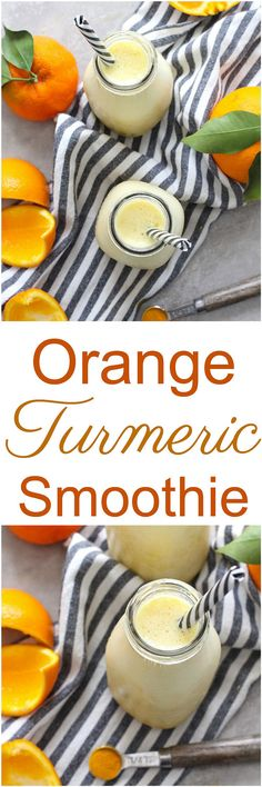 Orange Turmeric Smoothie - Add a boost to your day of essential vitamins, minerals and more with this Orange Turmeric Smoothie! Dairy-free, vegan and paleo.