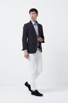 GU(GU)ストレッチブロードストライプシャツ(長袖)B - GU ジーユー