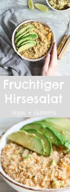 FRUCHTIGER HIRSESALAT MIT ORANGE & AVOCADO (VEGAN & GLUTENFREI), vegan kochen, veganes Rezept, veganer Salat, gesundes Rezept