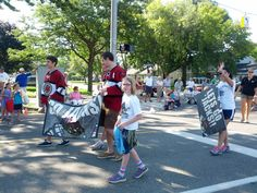 The Roosevelt Park Parade on Saturday, August 25! Thanks to Carter Foguth, Frederik Tiffels and all the young fans for helping out!
