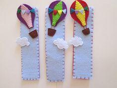 Hot-air balloon bookmark - felt bookmark - Segnalibro con mongolfiera Segnalibro in feltro di TinyFeltHeart