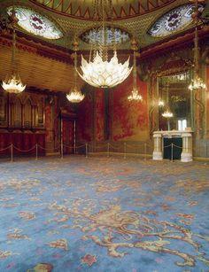 Music Room Brighton, reproduction Axminster carpet