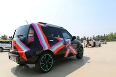 Kia Soul 'Art Cars' decorated with Nora Noh's signature motifs, patterns and designs.