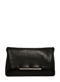 Lanvin Leather Envelope Clutch Bag