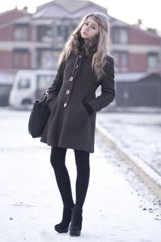 :) Winter wear - love the coat with black bottoms