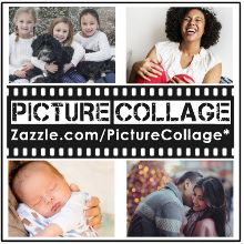 Family Photo Collage Heart 17 Pictures Name White Poster | Zazzle.com