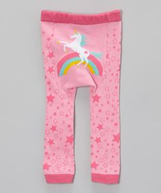 I love all things unicorn for my baby!! LOL - Loving this Pink Rainbow Unicorn Leggings - Infant on #zulily! #zulilyfinds