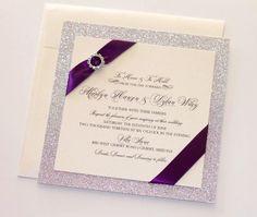 Glitter Wedding Invitation  Elegant Wedding Invitation