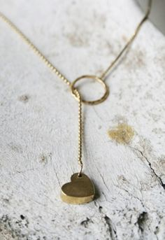 <3 #gold #heart #necklace