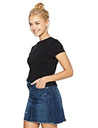 New Hayden Rose Young Women's Teen Short Sleeve Cropped Round Neck Fitted T-Shirt online. Find the perfect Beyove Tops-Tees from top store. Sku CPPI97855BPQV65182