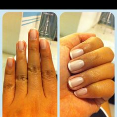 Perfect french manicured nails, clean and simple!