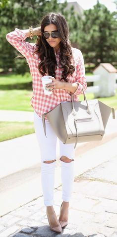Gingham Shirt Casual Chic Style by The Sweetest Thing