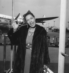 """a-quiet-life: """" Billie Holiday at Orly Airport in Paris - November, 1958 """""""