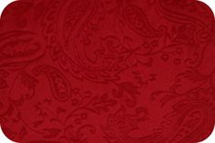 Fabric Depot Paisley Cuddle: Embossed - Red