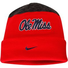 wholesale dealer f0e53 fe4ed coupon for ole miss rebels nike sideline cuffed knit hat red 705e2 1b355