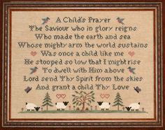 a childs prayer | an original design by Ellen Chester