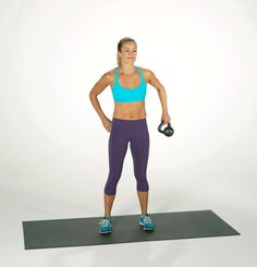 Ready for a simple, quick, effective beginner strength-training exercise? This exercise with a small kettlebell can be done at the gym or at home, and it works the abs and arms, while working the obliques for a trim waist. Easy Ab Workout, Abs Workout For Women, Workout Videos, Waist Workout, Workout Plans, Kettlebell Cardio, Kettlebell Training, Kettlebell Benefits, Cardio Workouts