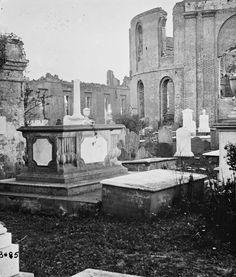 (1865) Graveyard of the ruined Circular Church - Charleston, SC