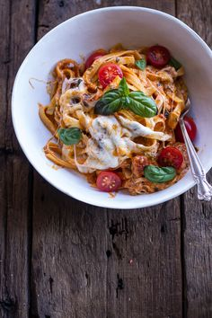One Pot 30 Minute Creamy Tomato Basil Pasta Bake