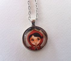 Little Red Riding Hood pendant by theformidableforest on Etsy
