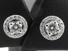 Catawiki Online-Auktionshaus: Ein Paar Ohrringe – Night & Day – aus Weißgold…