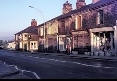 This is Padiham Road at its junction with Accrington Road, Trafalgar Street and Westgate, with John Watts clock visible in the backgroun. The Gables, Street Names, Burnley, My Town, Glass Jars, Terrace, Buildings, Landscapes, Tower