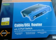 Linksys EtherFast BEFSR41-RM 4-Port 10/100 Wired Router (BEFSR41) in Wired Routers   eBay
