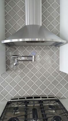 Arabesque Grey Kitchen Backsplash By Cs4flooring Com Madison Wi