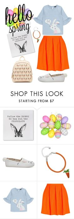 """Follow the Bunny"" by plusmodish ❤ liked on Polyvore featuring TOMS, George, Opening Ceremony, MCM, Easter and SpringOutfit"
