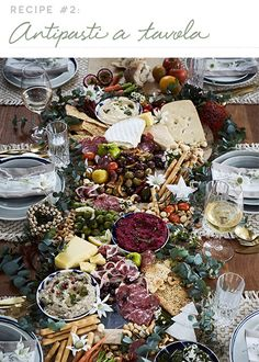 A stress-free Christmas menu | Temple & Webster Appetizers Table, Wedding Appetizers, Appetizer Recipes, Party Platters, Cheese Platters, Food Platters, Charcuterie And Cheese Board, Cheese Boards, Antipasto Platter