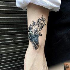 Flowers & butterfly tattoo