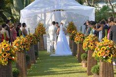 decoracao de casamento girassois