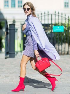 Stockholm Fashion Week 2017: Purple and red