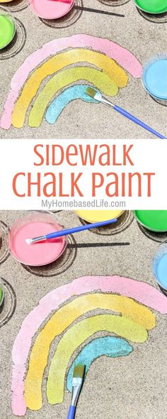 Sidewalk Chalk Paint is the easiest DIY for kids and not to mention the c. Summer Sidewalk Chalk Paint is the easiest DIY for kids and not to mention the c., Summer Sidewalk Chalk Paint is the easiest DIY for kids and not to mention the c. Easy Diys For Kids, Summer Fun For Kids, Kids Diy, Craft Kids, Summer Art, Outdoor Activities For Kids, Toddler Activities, Kindergarten Activities, Kids Outdoor Crafts