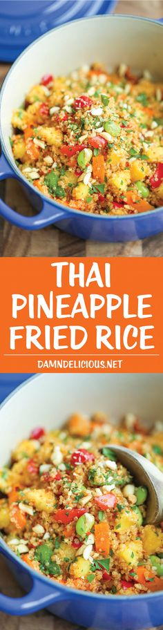 @kathyjaffe  Thai Pineapple Fried Rice - Finally, a healthy, hearty fried rice made with quinoa! And it comes together in just 10 minutes - it really doesn't get any easier!