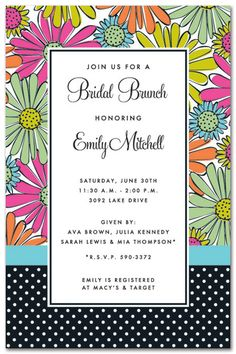 Flower Invitations, Flower Mix Party
