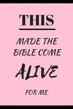 Ever thought the bible was boring and irrelevant? Yeah me too! But then something changed ... read this post to find out what made the Bible come alive for me! At HeavenOnEarthBlog.com.au