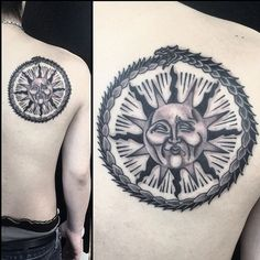 Ouroboros & Aztec Sun on the Back