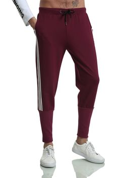 26aaaee0b7ff Pizoff Men s Hipster Sweatpant Jogger Pant Ac031 Red amp Black Hipster Man