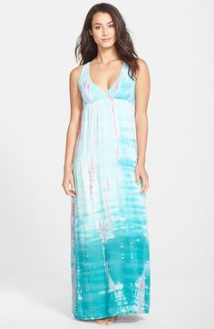 Hard Tail Twist Back Tie Dye Maxi Dress available at #Nordstrom