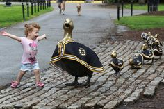 Boston Bruins Make Way For Ducklings Statues