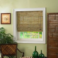 "Radiance 0108 Roman Shade with Valance in Burnt Bamboo Size: 34""W x 72""L by Radiance. $38.95. 0108812 Size: 34""W x 72""L Features: -Roman shade.-Made of hand selected bamboo.-Each shade measures '' less in width to allow for inside mount installation.-6'' built-in valance completes the elegance of this lush shade.-Light filtering provides privacy and energy-efficient insulation qualities. Includes: -Easily installed in minutes with all necessary hardware included. Options: -Avail..."