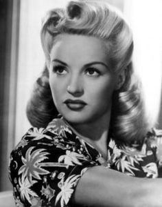 Betty and her perfect sculpted 40's hair.